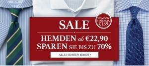 Sale bei Charles Tyrwhitt – Herrenhemden ab günstigen 22,90 Euro – ab 50,- Euro Bestellwert versandkostenfrei!