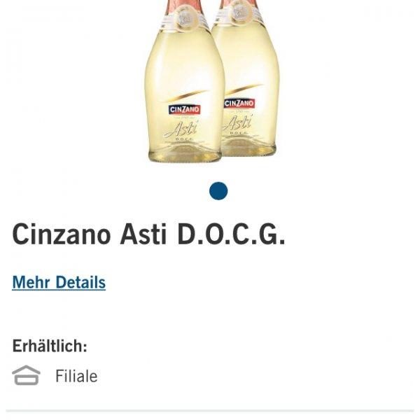 [LIDL-Super Samstag] Cinzano Asti für 4,44