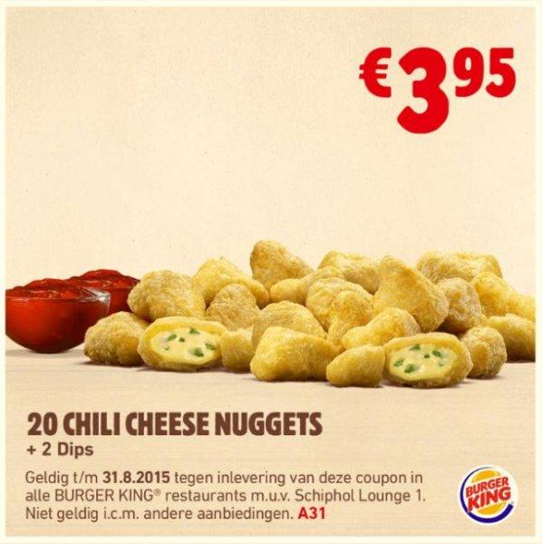 [Grenzgänger NL] 20 Chili Cheese Nuggets bei BurgerKing für 3,95