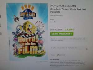 Movie Park Germany Tageskarte bei brands4friends für 19,99 inkl. Parkplatz