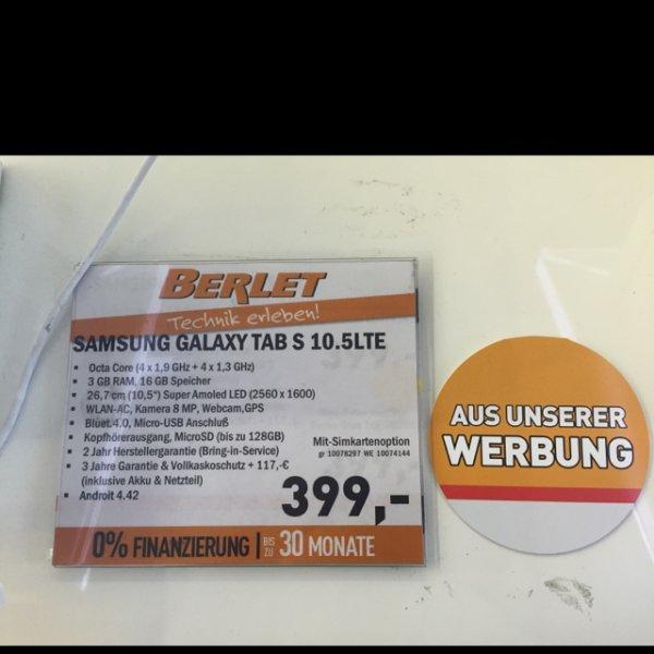 [Lokal: Berlet Hagen] Samsung Galaxy Tab S 10.5 | LTE | Weiß & Grau