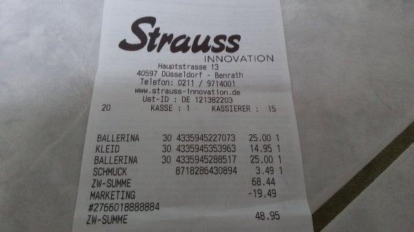 Strauss Innovation offline 30% auf alles (inkl. reduzierte Ware)