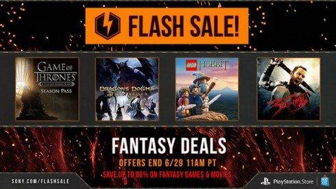 @PSN US Fantasy Flash Sale im Playstation Store (u.a. mit Lego The Hobbit, Game of Thrones) für PS3, PS4 und PS Vita