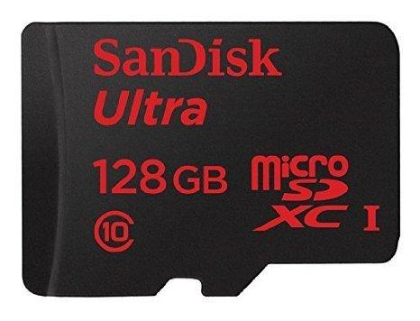 [Amazon Blitzangebot]SanDisk microSDXC-Karte 128 GB Ultra bis zu 48 MB/s und Memory Zone Android App Class 10, UHS-I für 63,50€