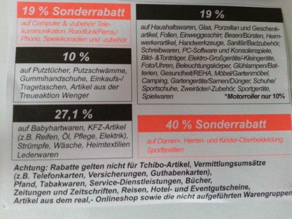 Real Personalrabatt Bundesweit?