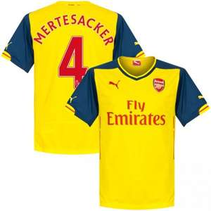 FC Arsenal London Puma Away Trikot 2014/2015 + Mertesacker 4 Flock