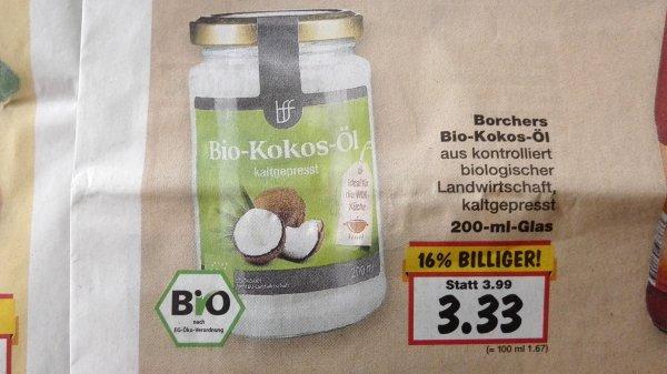Kaufland: Bio Kokosöl nativ 3,33€/200ml