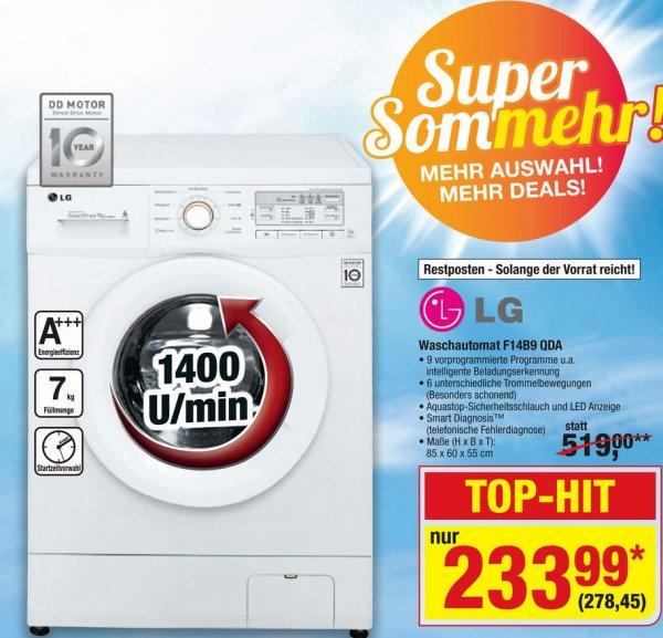 LG Waschmaschine F14B9QDA (7Kg, A+++, 1400U/min) @Metro