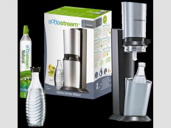 [Mediamarkt/Ebay ab 08.00] SodaStream Wassersprudler Crystal (mit 1 x CO2-Zylinder 60L und 1 x 0,6L Glaskaraffe), schwarz für 79,-€ Versandkostenfrei