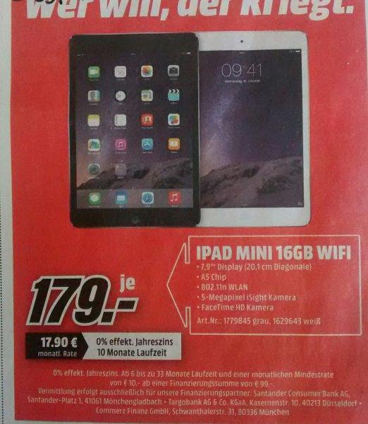[lokal Mönchengladbach] Apple IPad Mini 16 GB Wifi @MediaMarkt