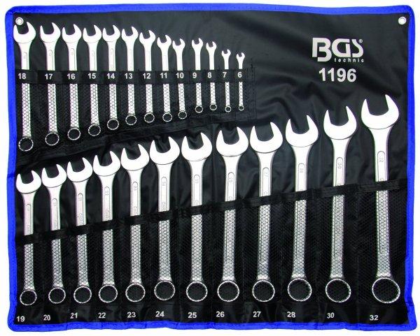 BGS Maulringschlüssel-Satz, 6-32 mm,DIN 3113A, 25-tlg.  23,50 Euro inkl. Versandkosten
