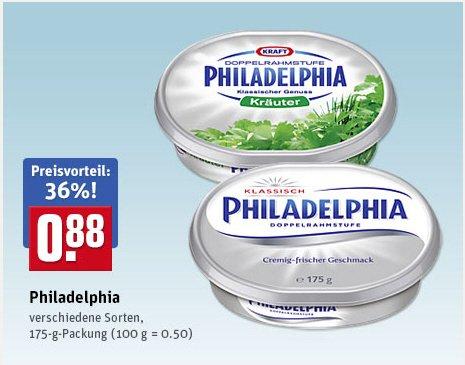 [Rewe]Top Angebot Philadelphia Frischkäse 0,88€ [29.06-04.07]