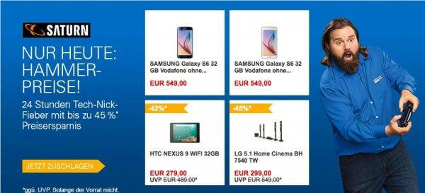 Samsung Galaxy S6 32 GB Simlock frei ( Tablet berechtigt) für 549€ auf saturn via ebay.de