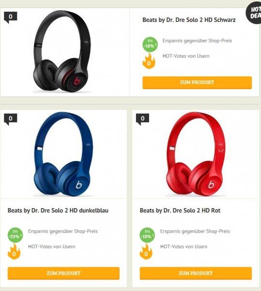 [Dealclub] Beats by Dr.Dre SOLO 2 HD-On-Ear-Kopfhörer (RemoteTalk für iOS-Geräte) in Rot,Schwarz oder Blau für je 109,90€ Versandkostenfrei