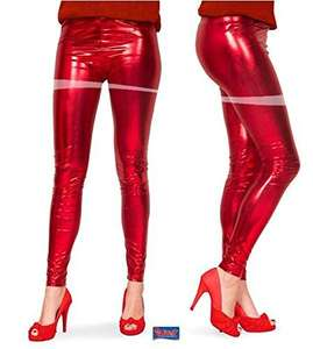 [Amazon FBA] Rote Metallic Leggins 1,63€