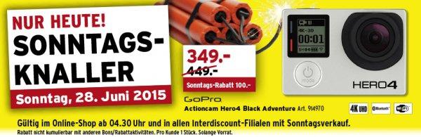 GoPro HERO4 Black für 335€ statt 440€ bei Interdiscount (Schweiz)