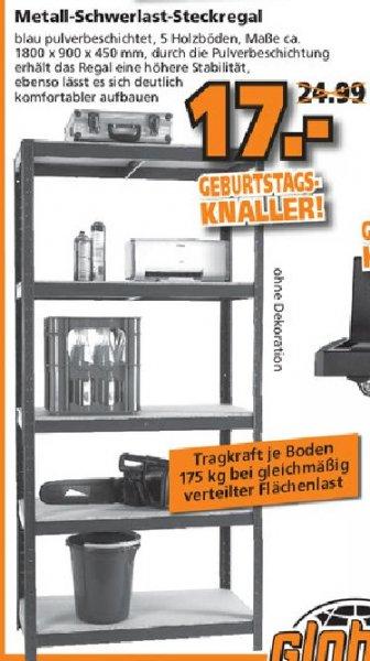 [GLOBUS Baumarkt] - Schwerlastregal für 17€ in Braunschweig