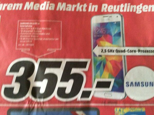 Samsung Galaxy S 5 im Media Markt Reutlingen heute Abend von 20-22 Uhr für € 355,-