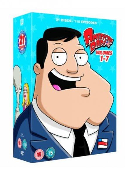 American Dad! Volume 1-7 (21- DVD Discs) O-Ton inkl.Vsk ca. 19,70 € > [base.com]