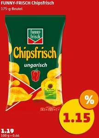 Funny Frisch Chipsfrisch Ungarisch - bei Penny am Fr/Sa für 1,15€