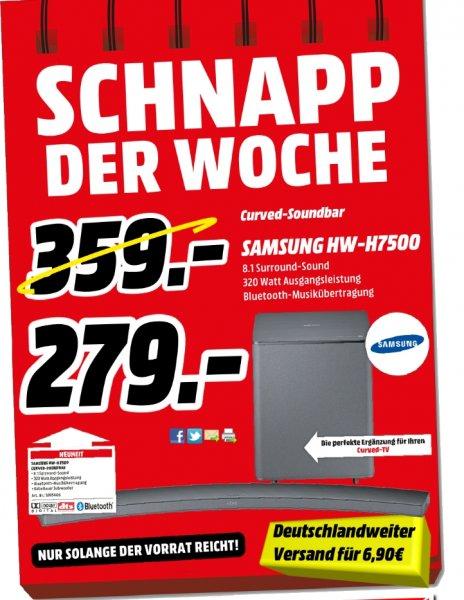 [Lokal/Bundesweit Mediamarkt PortaWestfalica] Samsung HW-H7500 8.1 Curved Soundbar schwarz für 279,-€***Bundesweit bestellbar mit 6,90 VSK***
