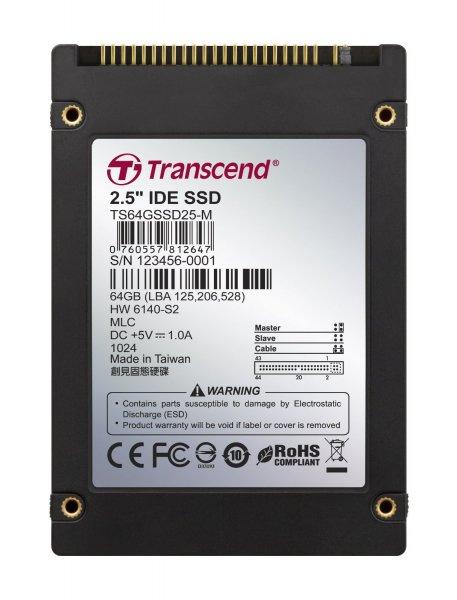 Transcend Festplatte SSD 64GB HDD IDE 2,5 Zoll MLC