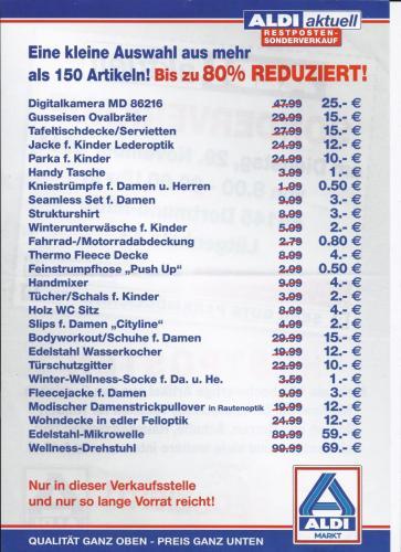 (Lokal) Aldi Sonderverkauf Dortmund  (Nur am 29.11.)