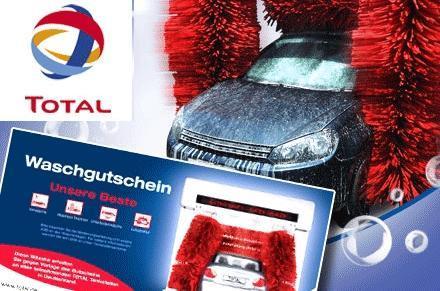 """TOTAL Autowäsche """"Unsere Beste"""" nur 6,30€ (statt 13,49€)"""