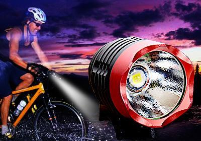 Cree XM-L T6 3-mode Fahrrad-/Stirnlampe