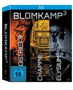 (Amazon Prime) Blomkamp³ - Chappie / District 9 / Elysium 3er Blu-ray-Box inkl. 64-seitiges Booklet für 19,99 EUR