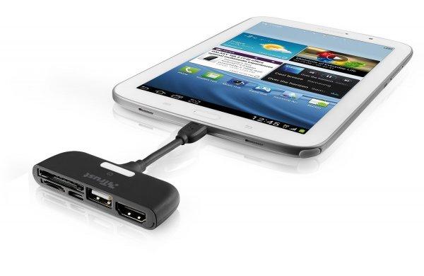 [Blitzangebot Amazon] Trust TV-Anschlussset mit Kartenleser für Samsun Galaxy Tablet und Smartphone schwarz für 21,99€