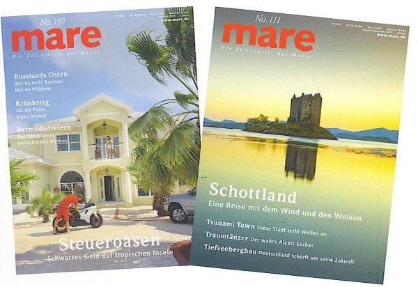 mare (Die Zeitschrift der Meere) - 2 Ausgaben kostenlos !   (Kündigung ist erforderlich !)