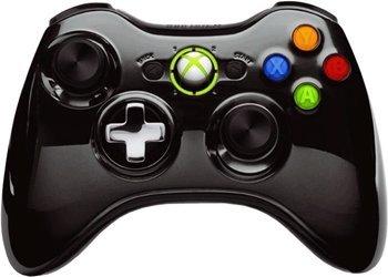 Xbox 360 Wireless Controller (chrome schwarz) für 25,39€ @Amazon.fr
