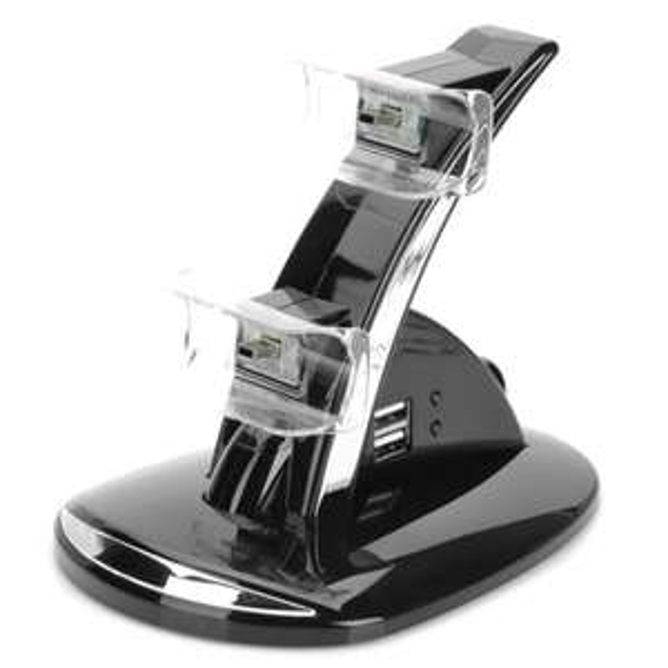 [CN] Blue Light Dual Controller USB Charging Dock für PS3 @Allbuy