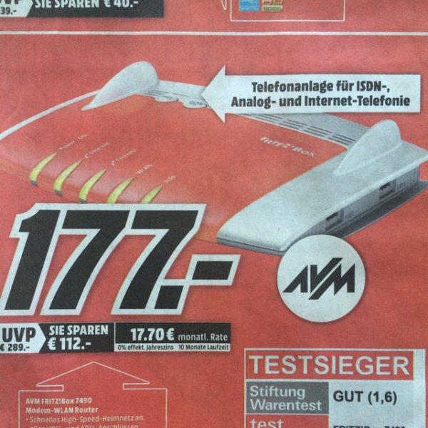 [lokal - Wiesbaden] AVM FRITZ!Box 7490 177€ @ MM