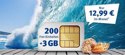 3 GB D2-Netz und 200 Minuten/SMS in alle Netze. E-Netz mit LTE möglich.