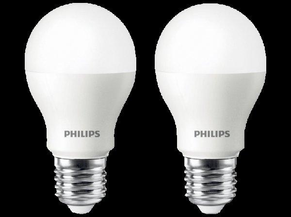 [MediaMarkt] Philips LED E27 Doppelpack (6W, 470lm, warmweiß) für 7€