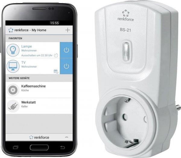 (Voelkner) Bluetooth-Funkschaltsteckdose Renkforce BS-21 für 14,99 EUR (oder alternativ das 3er Set für 34,99 EUR)