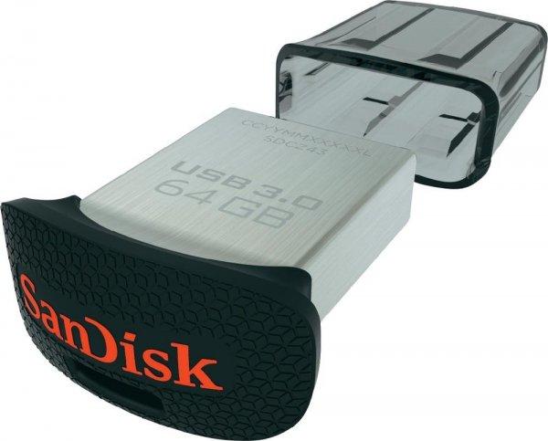 [Mediamarkt] SanDisk SDCZ43-064G-G46 Ultra Fit 64GB USB-Flash-Laufwerk USB 3.0 bis zu 130MB/Sek. für 20,-€ Versandkostenfrei