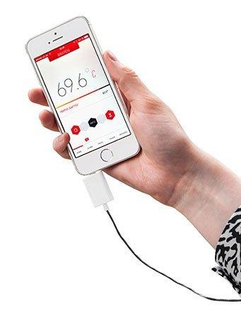 [Amazon Prime] TFA Dostmann Gourmet-Thermometer für Smartphones Thermowire 14.1505.02, weiß für 18,56€