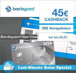 [Qipu] Barclaycard New Visa mit 45€ Cashback + 25€ Startguthaben