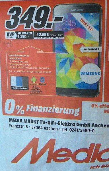 Samsung Galaxy S5 349€ lokal MM Aachen
