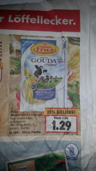 [Kaufland] 2 Packungen je 170g Frico Landkaas (alle Sorten) für 2,58€ kaufen 1€ über Scondoo zurück, effektiver Preis 1,58