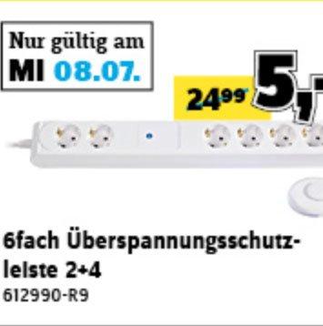 6-fach Überspannungsschutz-Steckdosenleiste statt 24,99€ für nur 5,00€ am 08.07. und weitere sehr gute Angebote @Conrad Filialen
