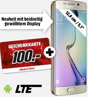 [SATURN] Samsung Galaxy s6 oder Galaxy s6 Edge + GRATIS 100€ Geschenkkarte