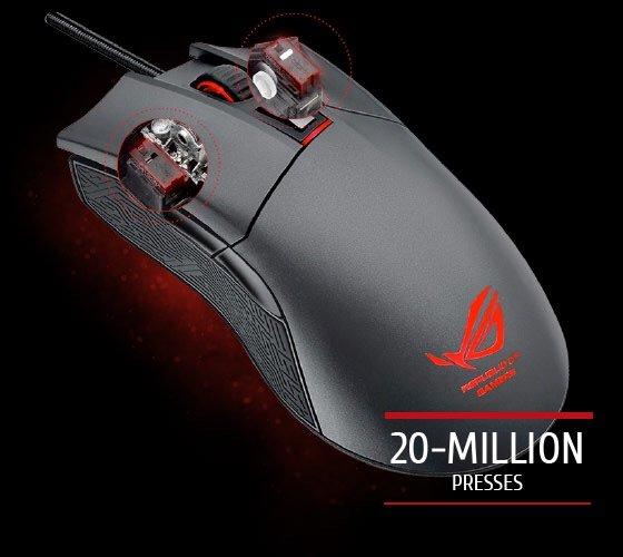 ASUS ROG Gladius Gaming Maus mit Cap