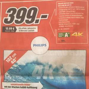 Philips 4K LED TV 399€ statt 469€ MM Backnang