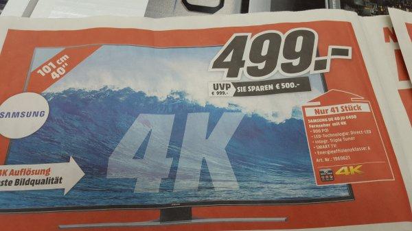 SAMSUNG 55J6250 FÜR 666€ UND SAMSUNG 40JU6450 UHD-TV FÜR 499€ MEDIAMARKT HEPPENHEIM