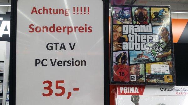 [Lokal Pforzheim Saturn] GTA V für PC nur 35 €