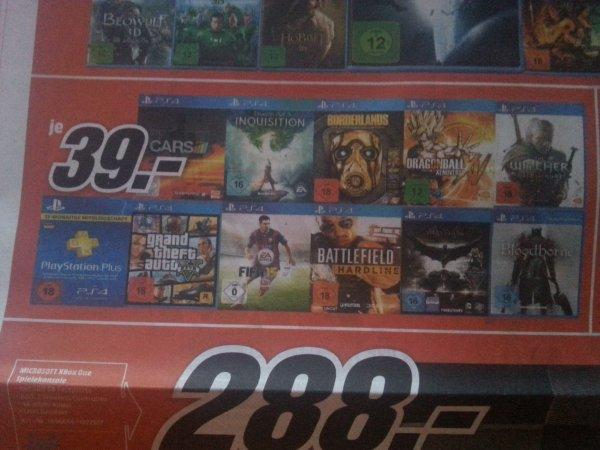 Lokal MM Backnang PS4 Spiele Je 39€ Witcher3 uvm.